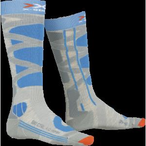 Skarpety X-Socks Ski Control 4.0 Grey Melange/Turquoise