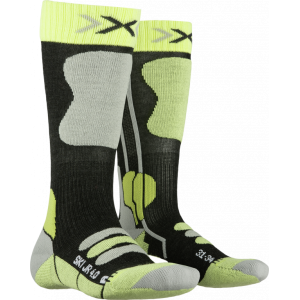Skarpety X-Socks Ski Jr 4.0 Anthracite Melange/Green Lime