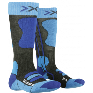 Skarpety X-Socks Ski Jr 4.0 Anthracite Melange/Blue