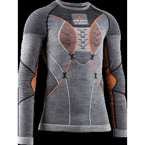 Koszulka męska X-Bionic Apani 4.0 Merino Black/Grey/Orange