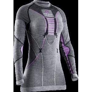 Koszulka damska X-Bionic Apani 4.0 Merino Black/Grey/Magnolia