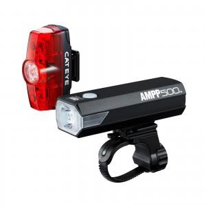 Zestaw lamp Cateye AMPP 500 HL-EL085RC / TL-LD635 Rapid MINI 25LM