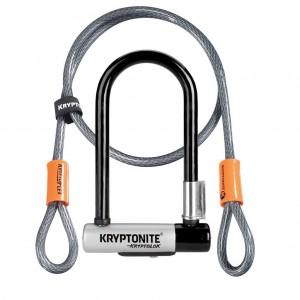 Kryptonite Kryptolok Mini 7 8.2x17.8cm mount+Kryptonite Kryptoflex 10mm/120cm