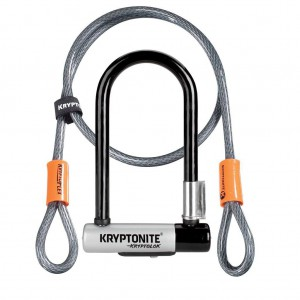Zapięcie Kryptonite Kryptolok Mini 7 8.2 x 17.8 cm uchwyt + Linka Kryptonite Kryptoflex 10mm/120cm
