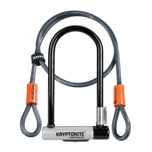 Zapięcie Kryptonite Kryptolok STD+ Linka Kryptonite Kryptoflex 10mm/120 z uchwytem
