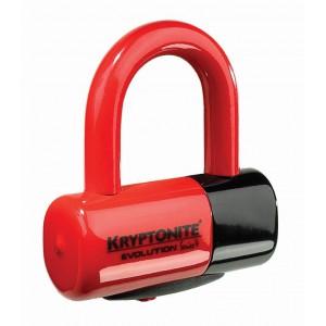 Kryptonite Evolution Series 4 Disc Lock 4.8x5.4cm red