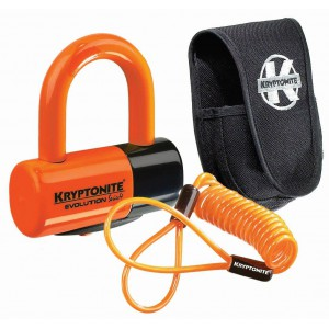 Kryptonite Evolution Series 4 Disc Lock 4.8x5.4cm Orange Premium Pack
