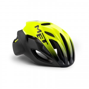 Met Rivale Hes Safety Black Yellow Matt Glossy