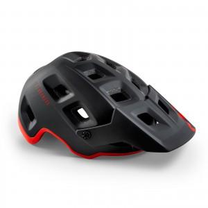 Kask rowerowy Met Terranova Mips Czarno Czerwony Matowy