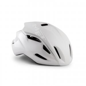 Kask rowerowy Met Manta Hes Biały Matowo Błyszczący