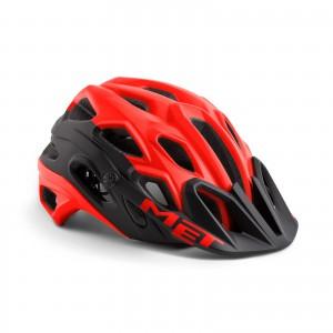 Kask rowerowy Met Lupo Czarno Czerwony Matowy