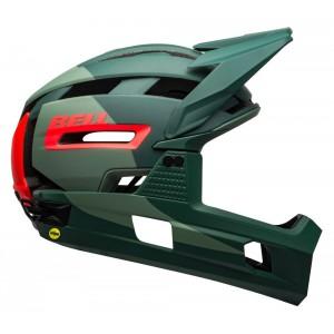 Kask rowerowy Bell Super Air R Mips Spherical zielono-czerwony
