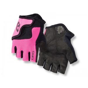 Rękawiczki rowerowe Giro Bravo Jr różowe