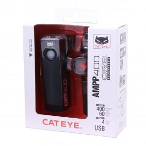 Cateye AMPP400 HL-EL084RC / SL-LD160 ORB