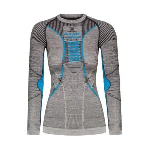 X-Bionic Apani 4.0 Merino Shirt Woman Black/Grey/Turquoise
