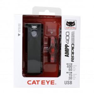 Cateye AMPP400 HL-EL084RC / TL-LD620-R Rapid Mini