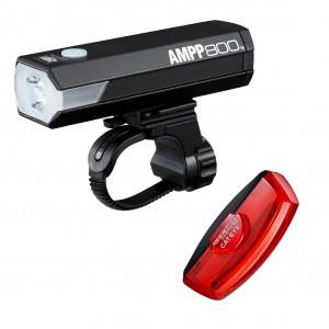 Zestaw lamp Cateye AMPP800 HL-EL088RC / TL-LD710K Kinetic X2