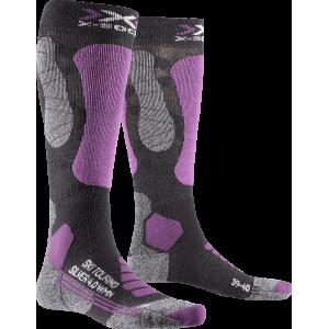 X-Socks Ski Touring Silver 4.0 Woman Grey Melange/Purple