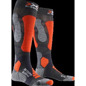 Skarpety męskie X-Socks Ski Touring Silver 4.0 Men Szaro-Pomarańczowe