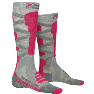 X-Socks Ski Rider 4.0 Woman Stone Grey Melange/Pink