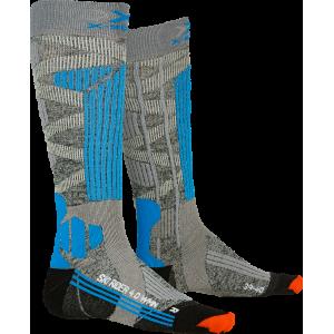 Skarpety damskie X-Socks Ski Rider 4.0 Woman Szaro-Turkusowe
