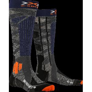 Skarpety męskie X-Socks Ski Rider 4.0 Men Szaro-Niebieskie
