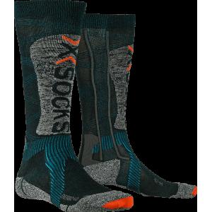 Skarpety męskie X-Socks Ski Energizer 4.0 LT Men Szaro-Niebieskie