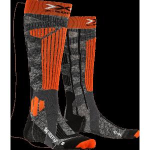 X-Socks Ski Rider 4.0 Men Stone Grey Melange/X-Orange