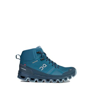 Buty On Running Cloudrock Waterproof Woman Niebieskie