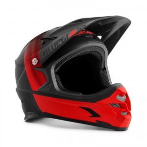 Kask rowerowy Bluegrass Intox Czarno Czerwony