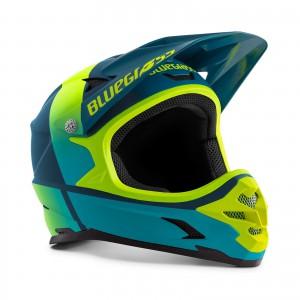 Kask rowerowy Bluegrass Intox Żółto Niebieski 2021