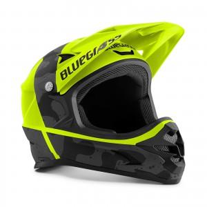 Kask rowerowy Bluegrass Intox Czarno-Żółty 2021