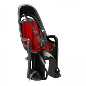 Fotelik Hamax Zenith szary, czerwona wyściółka, z adapterem na bagażnik