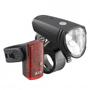 Zestaw lamp AXA Greenline 15 lux / 1 dioda USB on/off czarna