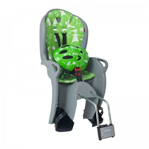 Fotelik Hamax Kiss szaro-zielony + kask