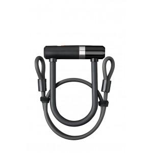 Zapięcie AXA Newton UL Mini 150 mm/14 mm czarny + linka Double Loop 8mm / 100cm