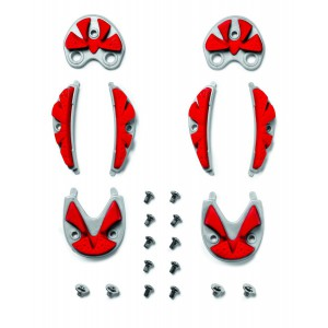 Sidi SRS Carbon Ground Inserts red-grey