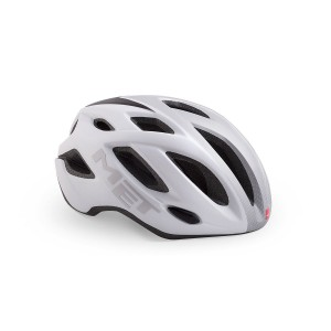 Kask rowerowy Met Idolo Biało-Srebrny