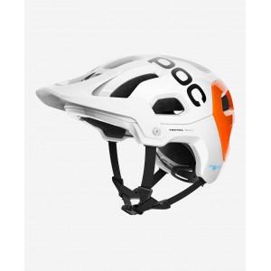 POC Tectal Race Spin NFC Hydrogen White/Fluorescent Orange AVIP