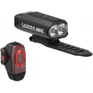 Lezyne Micro Drive 600XL Fahrradbeleuchtungsset (vorne) / KTV (hinten)