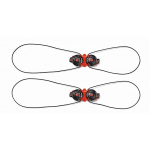 Klamry do butów Sidi Double Tecno 3 Push System Czarno-czerwone